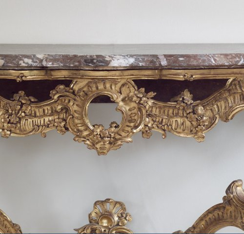 French Gilt-wood Louis XV Console Table -