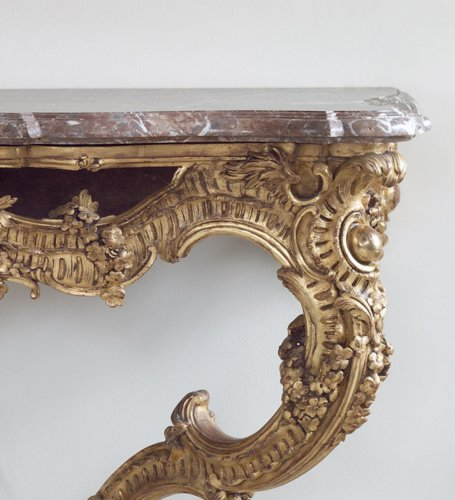 18th century - French Gilt-wood Louis XV Console Table