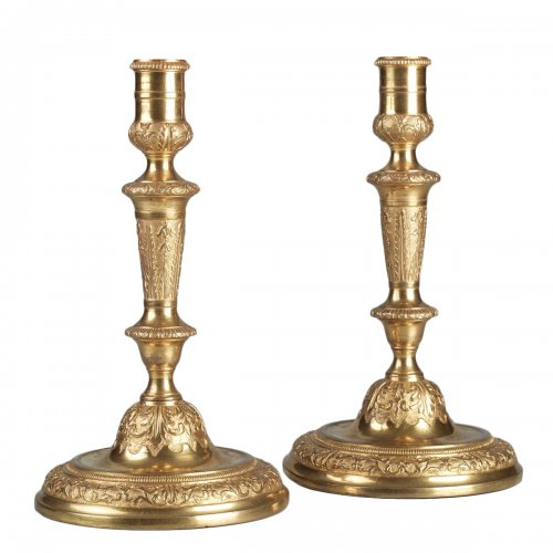 Pair of French Régence Candlesticks