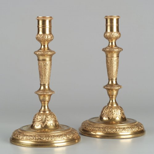 Pair of French Régence Candlesticks - Lighting Style French Regence