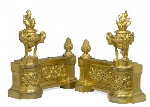 Pair of French Louis XVI Chenets