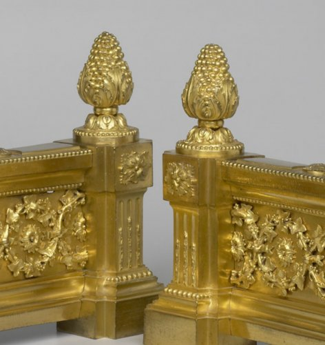 18th century - Pair of French Louis XVI Chenets