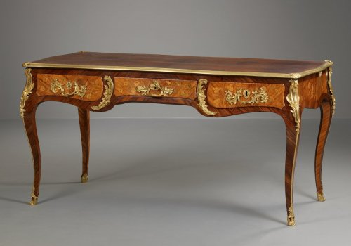 French Louis XV Bureau Plat  - Furniture Style Louis XV
