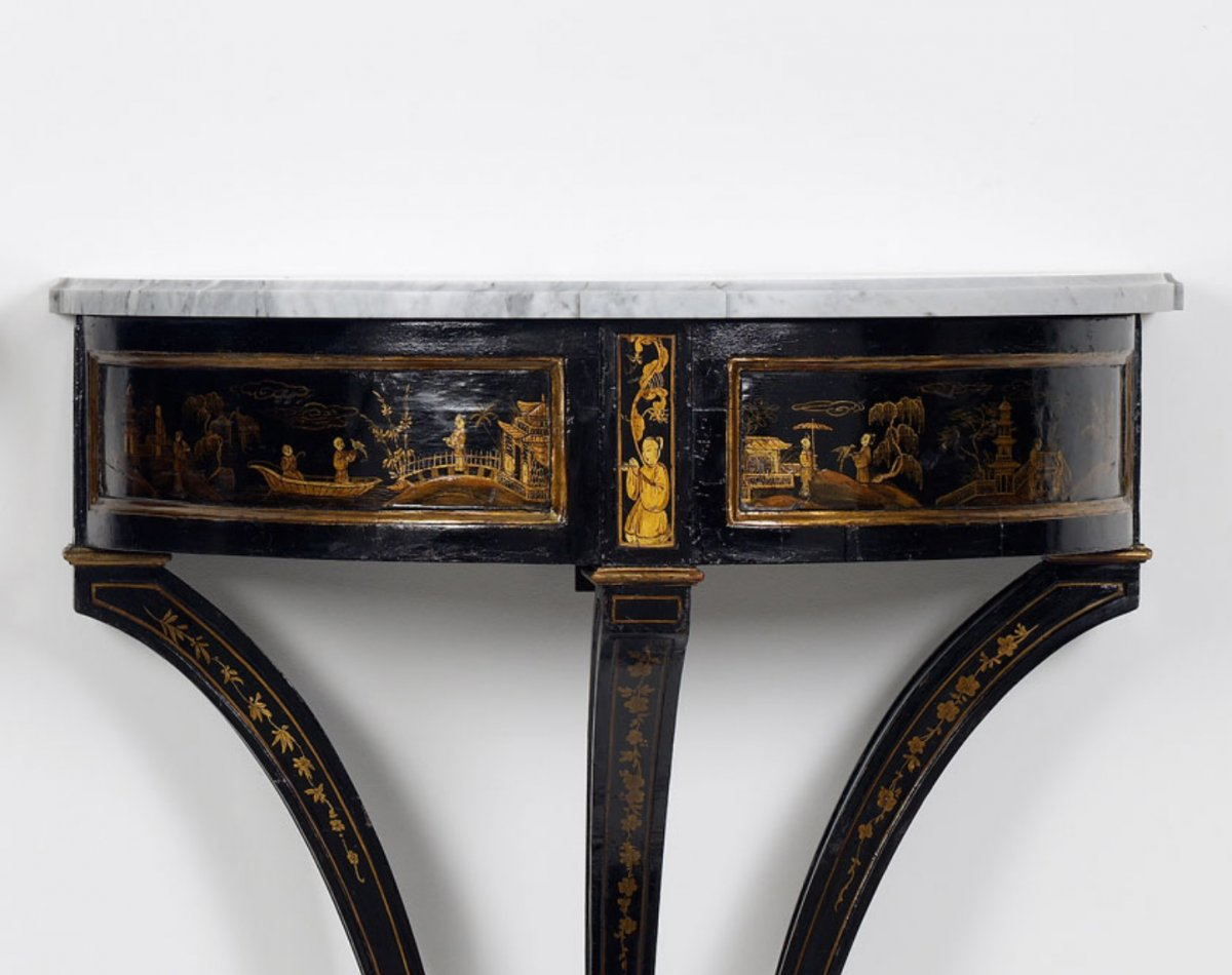 Furniture   Pair Of Dutch Chinoiserie Console Tables