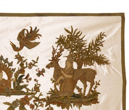 English Stumpwork Embroidery with Chinese Curio Motives -