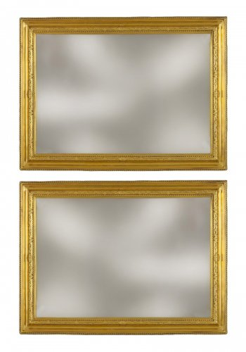Pair of French bronze Frames from the Régence Period