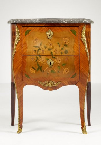 Small Commode stamped IBHEDOUIN JME - Furniture Style Louis XV
