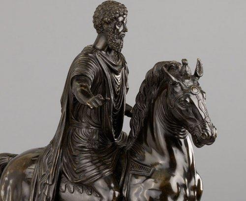 18th century - Italian Equestrian Statue Representing Marcus Aurelius