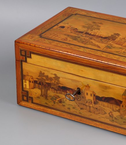 French Document Box - Decorative Objects Style Louis XVI