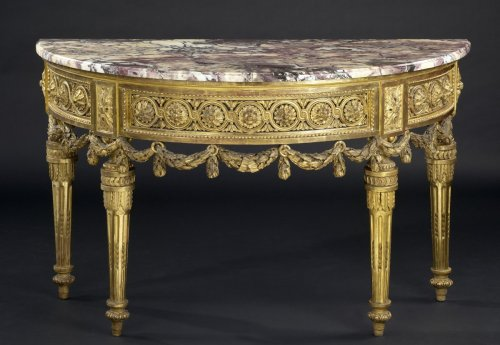 North-Italian Louis XVI Demi-lune Console Table - Furniture Style Louis XVI