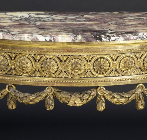 18th century - North-Italian Louis XVI Demi-lune Console Table