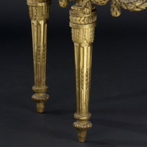 North-Italian Louis XVI Demi-lune Console Table - Louis XVI