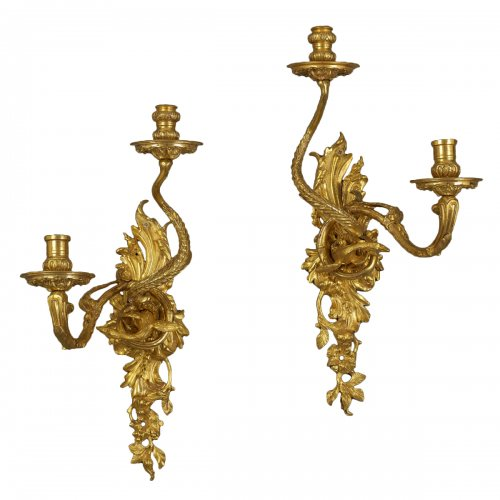 Pair of early French Wall Sconces