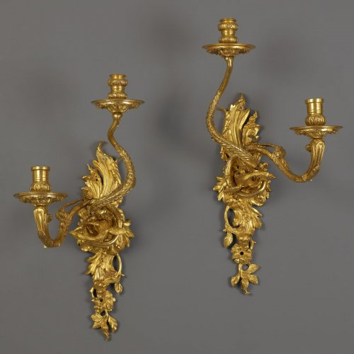 Pair of early French Wall Sconces  - Lighting Style French Regence