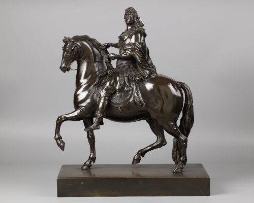 Equestrian Statue of Louis XIV, after Martin Desjardins - Sculpture Style