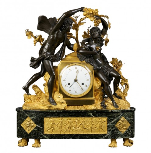 French Directoire Mantel Clock