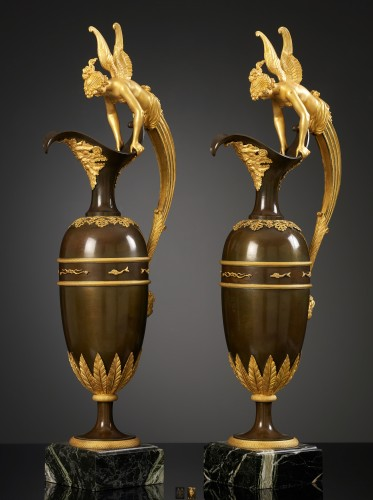 Decorative Objects  - Pair of large Empire Ewers