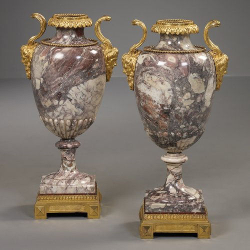 Pair of Marble Vases, Italy - Decorative Objects Style
