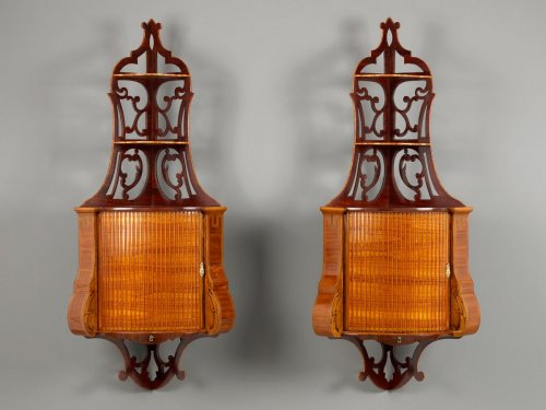 Pair of Dutch Hanging Corner Cabinets - Furniture Style