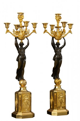 A pair of Empire Candelabra