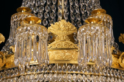 A large Empire 24-light Chandelier attributed to Claude Galle, Paris - Lighting Style Empire
