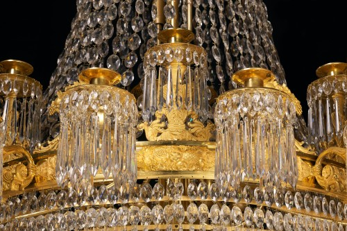 Lighting  - A large Empire 24-light Chandelier attributed to Claude Galle, Paris
