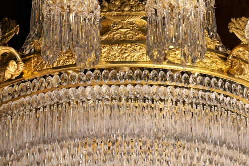 Antiquités - A large Empire 24-light Chandelier attributed to Claude Galle, Paris
