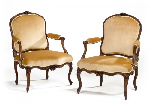 Pair of French Louis XV Armchairs