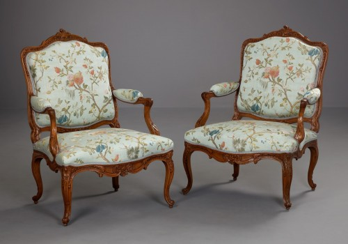Pair of German Armchairs - Seating Style Louis XV