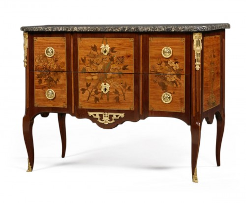 Commode d'époque Transition estampillée Bircklé