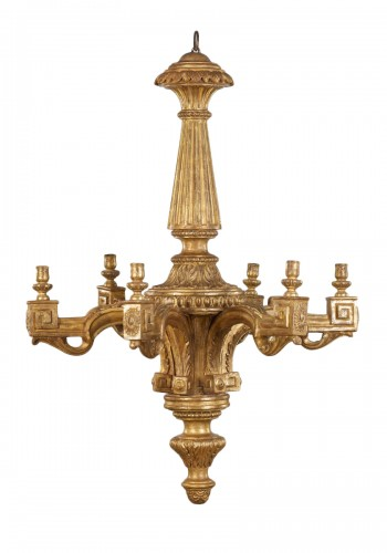 Italian Wooden Louis XVI  Chandelier