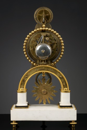 French Skeleton Clock with Full Calendar - Clocks Style Louis XVI