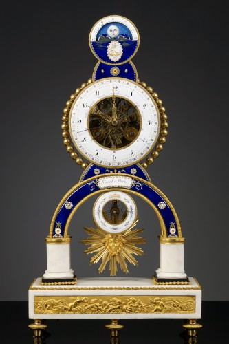 Clocks  - French Skeleton Clock with Full Calendar