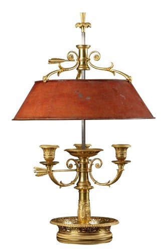 French Empire Three-light Bouillotte Lamp
