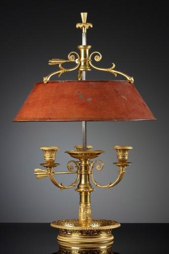 French Empire Three-light Bouillotte Lamp - Lighting Style Empire