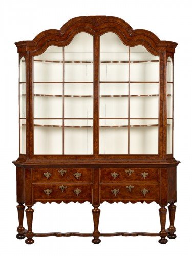 Dutch Walnut Display Cabinet
