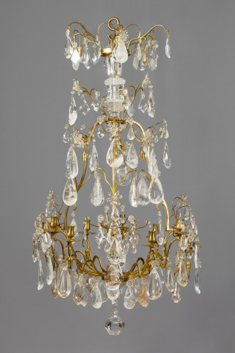 French Louis XV Lustre à Cage with Rock Crystal - Lighting Style Louis XV