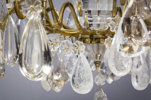 18th century - French Louis XV Lustre à Cage with Rock Crystal