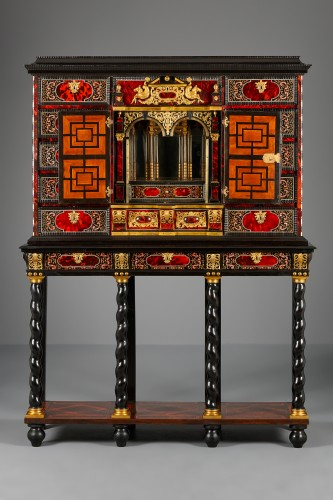 Furniture  - Flemish Lacquer inlaid and Tortoiseshell Cabinet-on-stand,  Antwerp