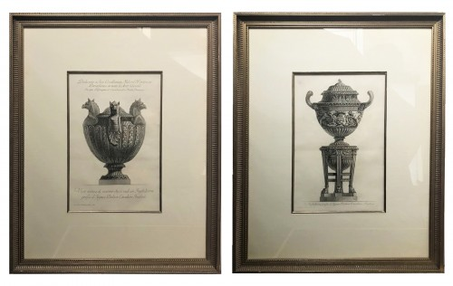 Two etchings of marble vases - Giovanni Battista Piranese (1720-1778)