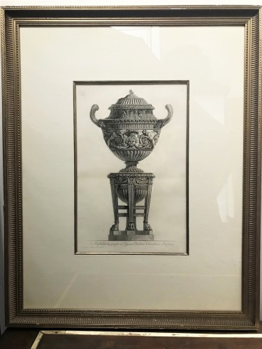 Two etchings of marble vases - Giovanni Battista Piranese (1720-1778) - Engravings & Prints Style