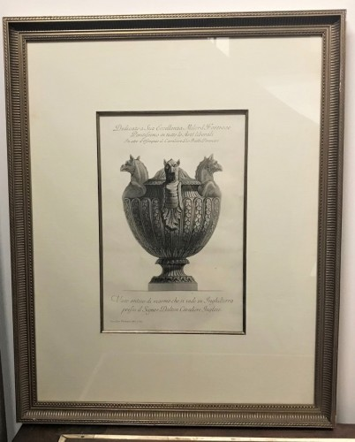 Engravings & Prints  - Two etchings of marble vases - Giovanni Battista Piranese (1720-1778)
