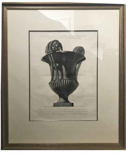 Large etching of a marble vase - Giovanni Battista Piranese (1720-1778)