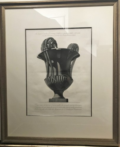 Large etching of a marble vase - Giovanni Battista Piranese (1720-1778) - Engravings & Prints Style