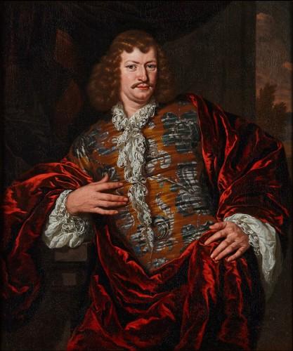 Michiel van Musscher (1645-1705) Portrait of a nobleman