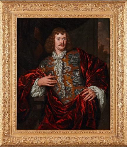 Michiel van Musscher (1645-1705) Portrait of a nobleman - Paintings & Drawings Style Louis XIV