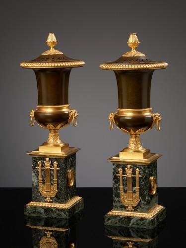 Pair of French Empire Pot-Pourris