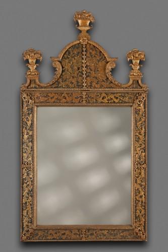 Swedish Louis XIV Mirror, Burchard Precht - Mirrors, Trumeau Style Louis XIV