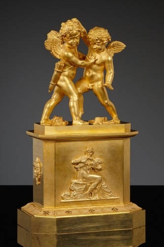 French Empire Group, Eros & Anteros - Sculpture Style Empire