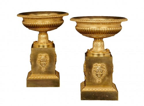 Pair of French Empire Gilt-bronze Coupes